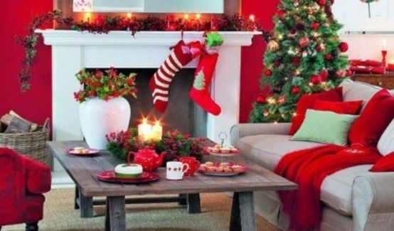 1000 images about christmas living room decor on pinterest christmas living rooms indoor - Christmas decorating ideas for small spaces paint ...