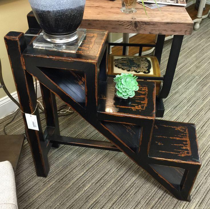 Black Distressed Finish Ladder Side Table From Design Elements In  Jacksonville, FL   November 2015