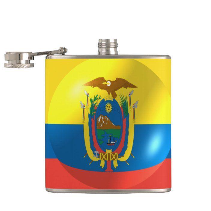 hip flask Ecuador Flag Flask Ecuador Flag Stainless Steel Hip Flask 6oz gift Ecuador country flag flask flasks