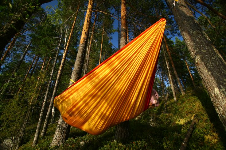 Optimal hammock camping!