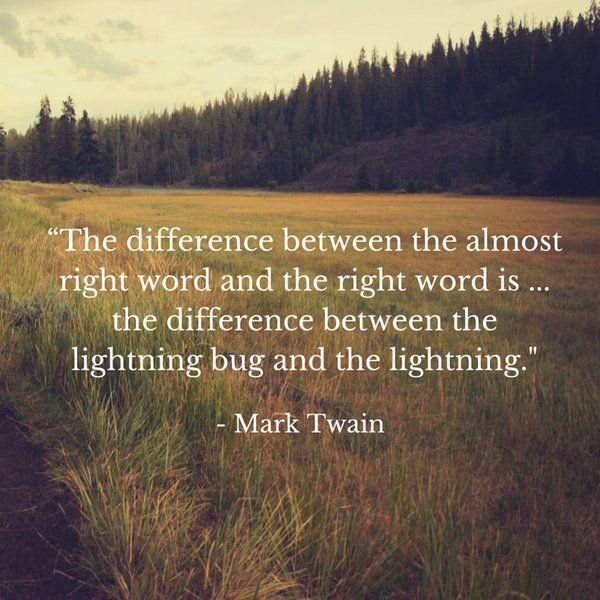 Writing quote about the right word.