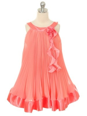 Cute coral flower girl dress.... just a thought  :)