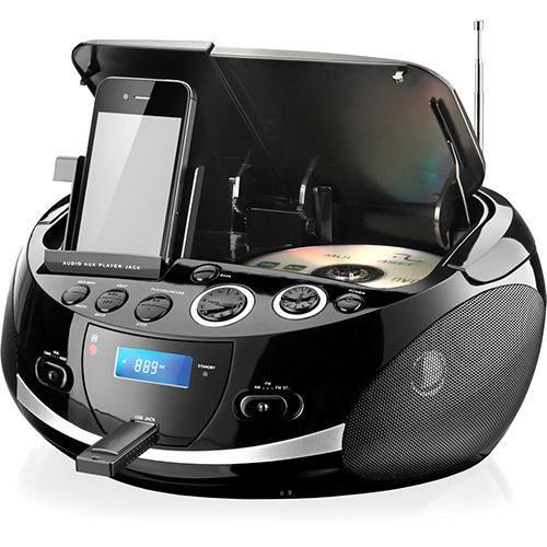 Som Portátil Multilaser SP157 Boombox 20W RMS USB Dock Station para iPhone e…