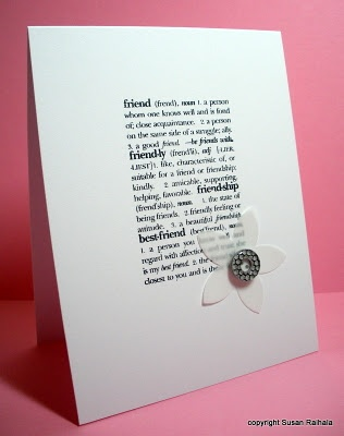 Embellish the definition card by Susan