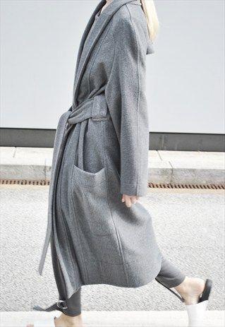 Utopia wrap coat  from HOUSE OF SUNNY #coat #jacket #covet.me