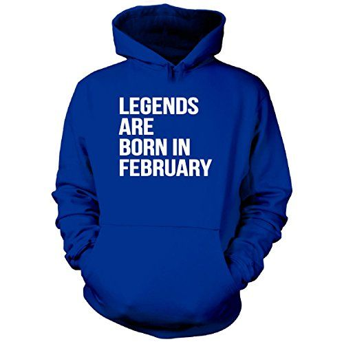 Legends Are Born In February. Cool Gift - Hoodie Royal Adult L