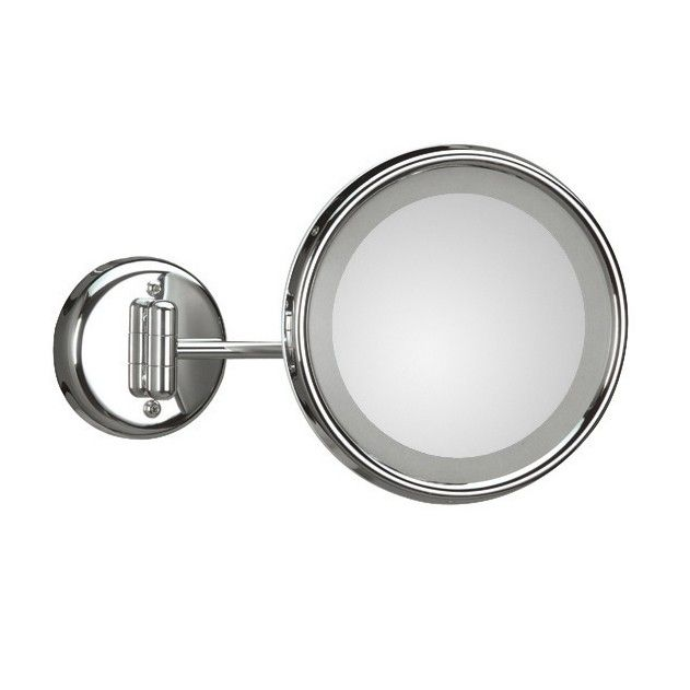 Modern High End Luxurious Designer Wall Mounted Bathroom Hard Wired Magnifying Mirror With Incandescent