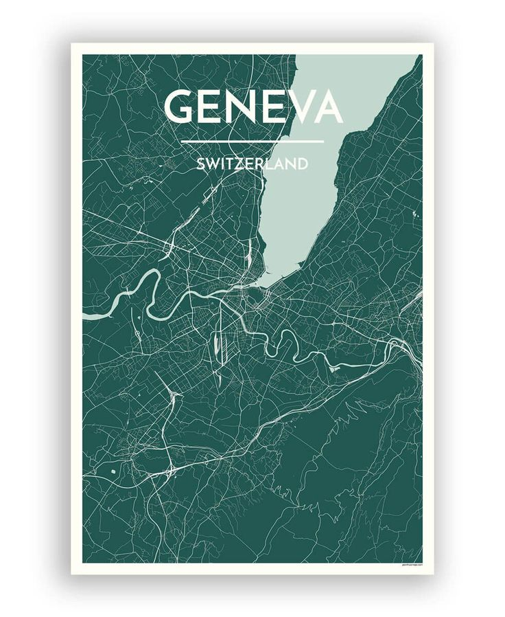 Geneva Switzerland PopOut Map by PopOut Products