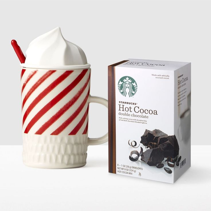 Whip Top Mug and Cocoa Gift Set. Hot cocoa done right.