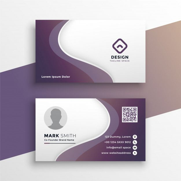 Download Purple Wavy Business Card Design Template For Free Business Card Template Design Card Design Business Card Design