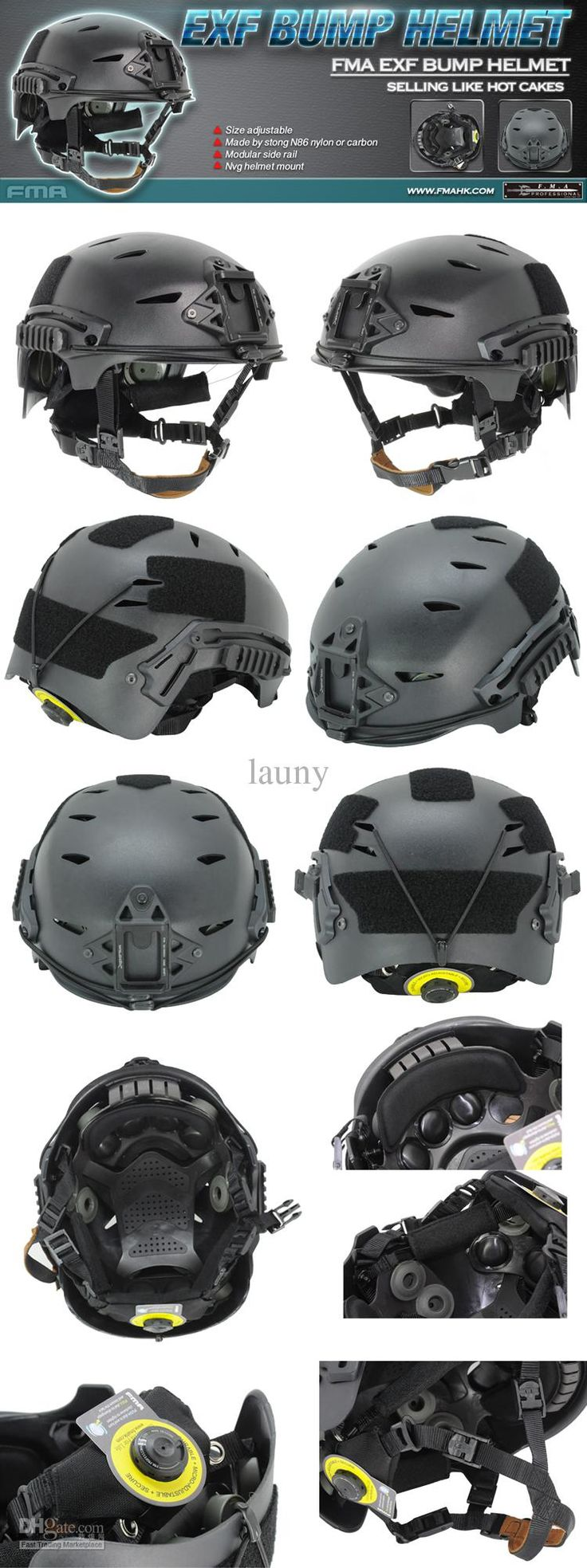 Wholesale new FAST EXF BUMP Paintball Airsoft Helmet Tactical protective helmet Black Free Shipping, Free shipping, $75.62/Piece | DHgate Mobile