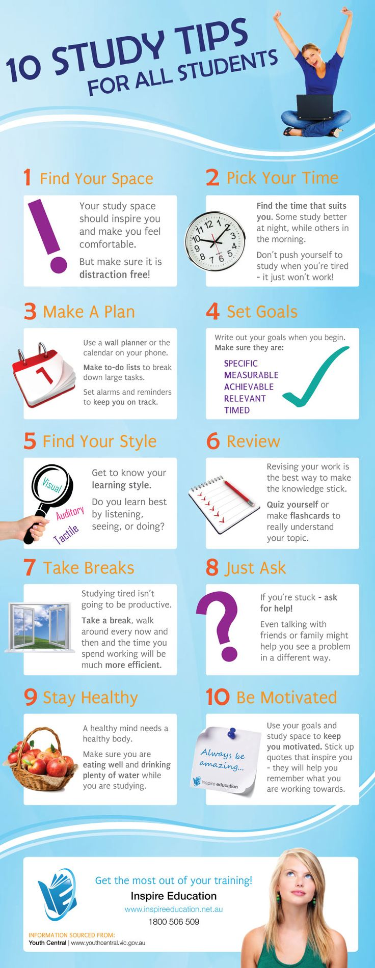 [10 Ways to Study Smart] Infographic :: Make the most out ...