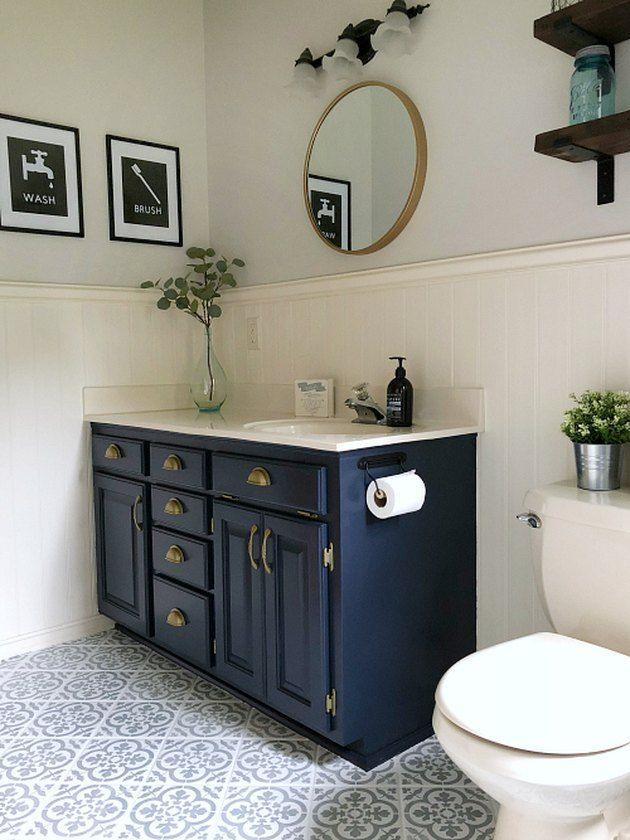 7 Bathroom Vanity Cabinet Colors You Ll See Everywhere In 2020 Hunker Popular Bathroom Colors Bathroom Vanity Cabinets Bathroom Cabinet Colors