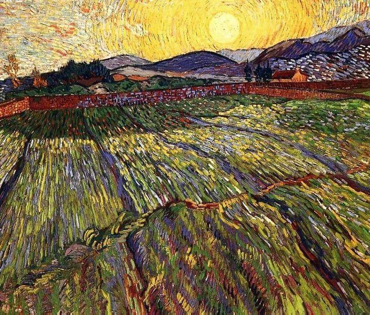 Vincent van Gogh, Campo di grano con sole nascente, 1889