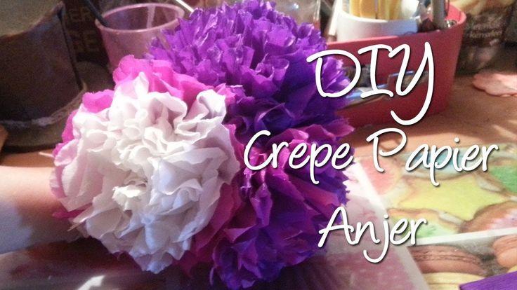 Hoe maak je crepe papier anjers? Leuke feest versiering! DIY