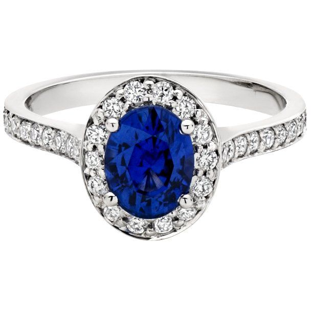 """Appassionata"" with Oval Sapphire Engagement Ring"