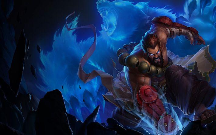 Download wallpapers Udyr, warrior, MOBA, art, League of Legends