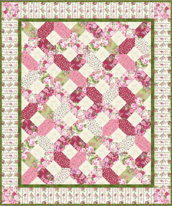 Rose Cottage Quilt Pattern. B E A U tiful! Bet my mom has a pattern for this.