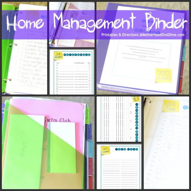 Home Management Binder Ideas