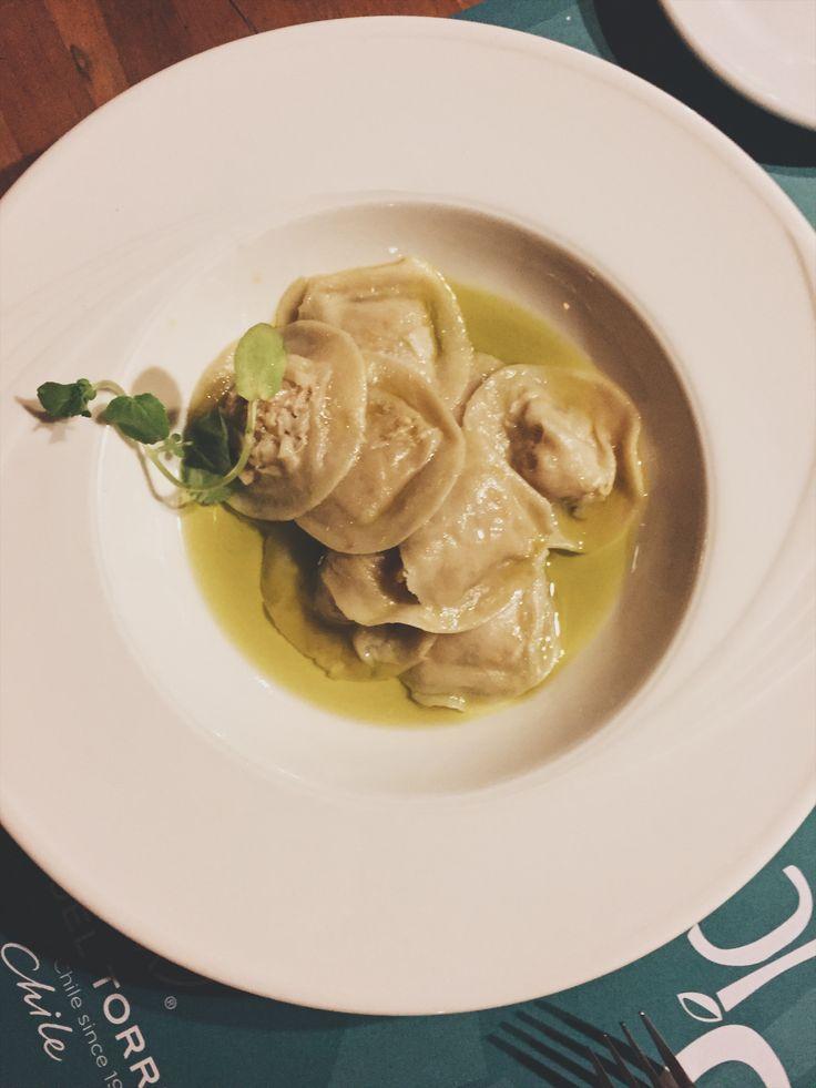 Sorrentinos con oliva Simple.