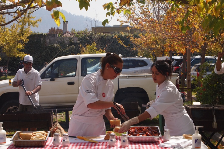 Enjoying Barbecue at Asado Start-up in Santiago de Chile, Saturday 23 of March