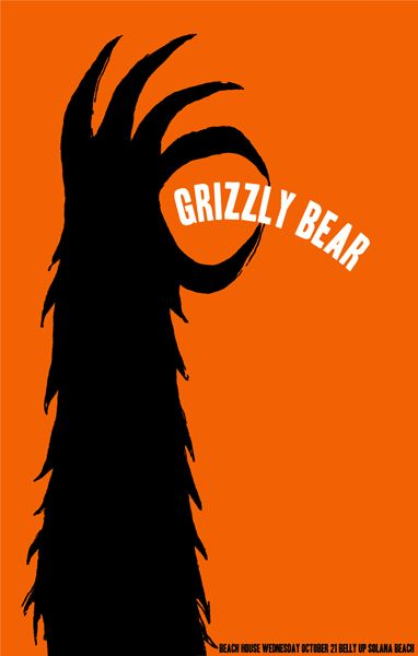 grizzly bear poster ______________________________ Love the simple illustration. So very fun