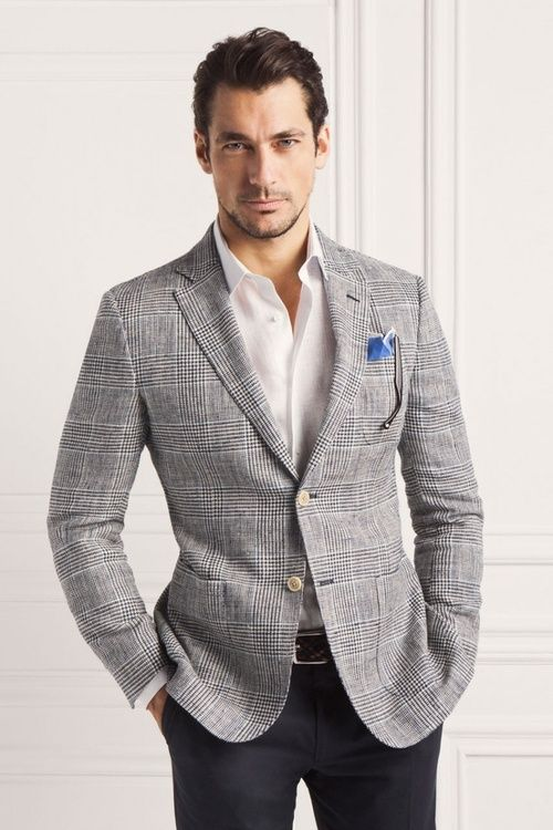 Mix and match suit. Checks. Menswear.