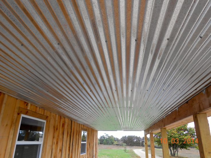 Galvanized Ceiling Galvanized Metal Pinterest