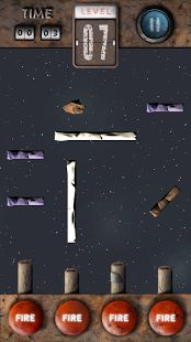 """""""Asteroid Hunter. Logic & Reaction"""" - is a physics based logic puzzle game, brings you into the space where you have to destroy asteroids. You will test your reaction and solve ricochet based puzzles. Good brain training."""