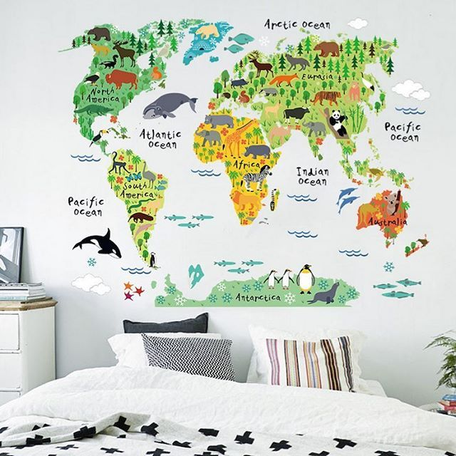 Take your child on a journey around the world with this WORLD MAP WALL DECAL by @rockymountaindecals.  10% off today at www.rockymountaindecals.ca ----------------------------------------------------- #ad #barnerom #barneromsinspirasjon #inspo #inspirasjon #inspiration #barn #love #kids #nursery #playful #childrensroom #kidsinterior #decoration #play #interior #details #outfit #toys #cute #girl #boy #colorful #photooftheday #mostliked #Amazing #fashion #cool #rooms #baby