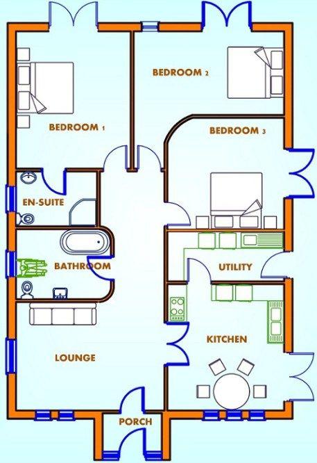 Les 57 meilleures images à propos de House plans sur Pinterest - Plan Maison En Longueur