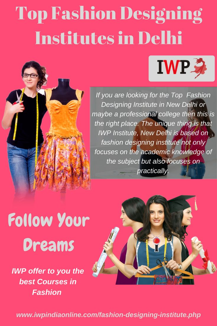 Fashion Designing institute in New Delhi is the one of the top polytechnic institute for the women where you can learn Fashion Designing courses by the best educators of fashion Designing. Make a step forward in Fashion Design world with IWP.