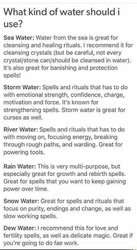 What kind of water should I use? Water energies | Z
