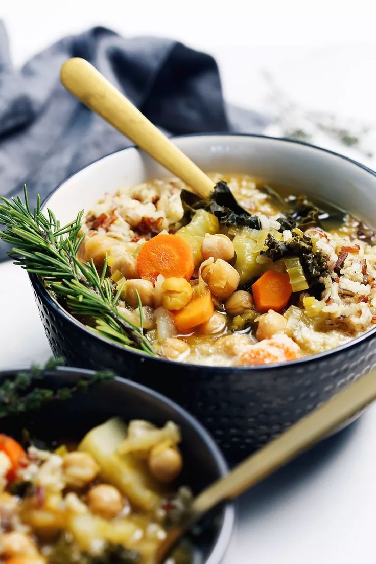 Chickpea Soup by Pasta-based. Hearty, warm, vegetable-filled, chunky, fortifying soup with carrots, celery, leeks, potatoes, garlic, kale, and chickpeas.