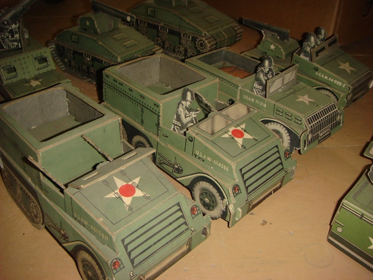 Paper Military Toys