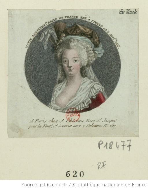Marie Antoinette reine de France née à Vienne le 2 nov.bre 1755 : [estampe] / [non identifié] - 1