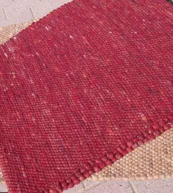 Handwebteppich Feldberg Gelb/Rot Farbtöne; Handwebteppich, schwere Qualität. Handwebteppiche aus dicht gewebter Schafschurwolle. Dieser Wollteppich ist in 11 schönen Farben erhältlich. Bei Naturversand Kirschke.