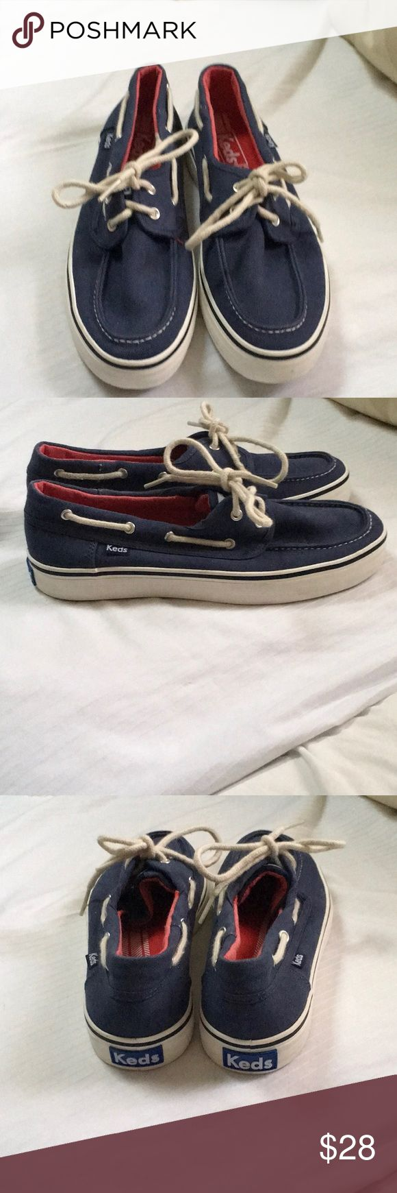 NEW KEDS BLUE BOAT SHOES SIZE 6.5 NEW KEDS BLUE BOAT SHOES 6.5 Keds Shoes Flats & Loafers