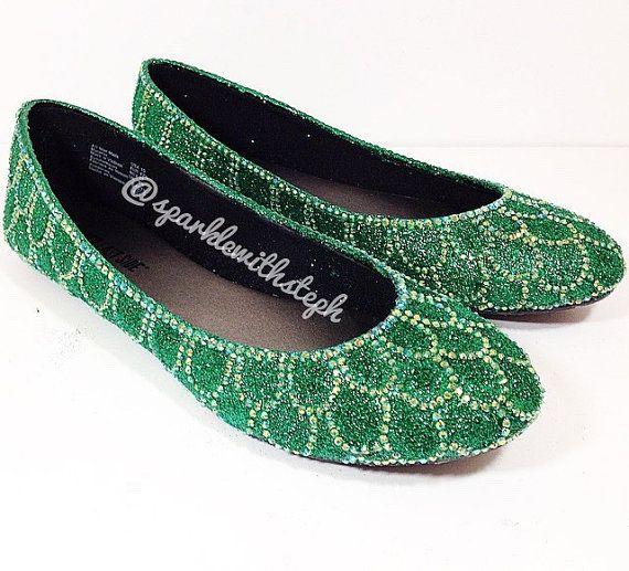 Chaussures de nageoire de sirène - Ariel Fin chaussures - Little Mermaid - talons de Glitter - Glitter Flats