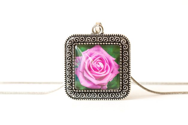 Naszyjnik z różą / Rose necklace - Art-Of-Nature