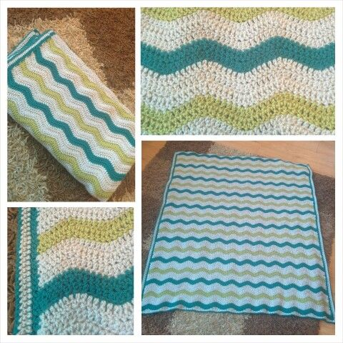 Crochet ripple baby blanlet