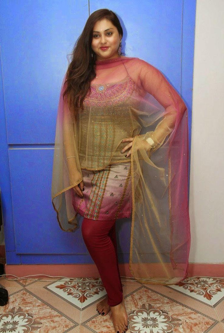 Actress Namitha Latest Pictures in Salwar Kameez at KSK Technologies
