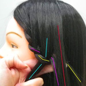 directions for the waterfall and double waterfall braid