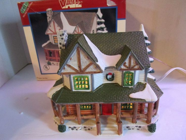 LEMAX Village Collection VAIL Village Porcelain Lighted House 1996 Christmas   #Lemax
