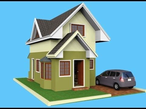 Small House Design - Attic 3D Rendered - YouTube