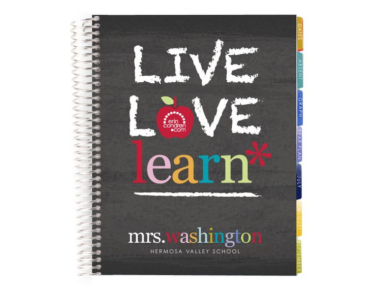 teacher's lesson planner -live love learn