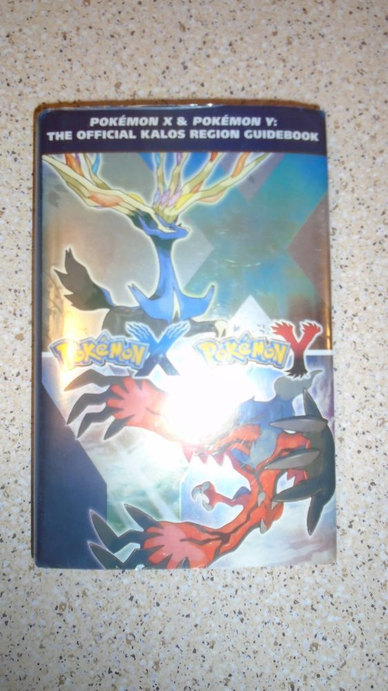 Pokemon X and Pokemon Y The Official Kalos Region Guidebook HARDCOVER with dust!