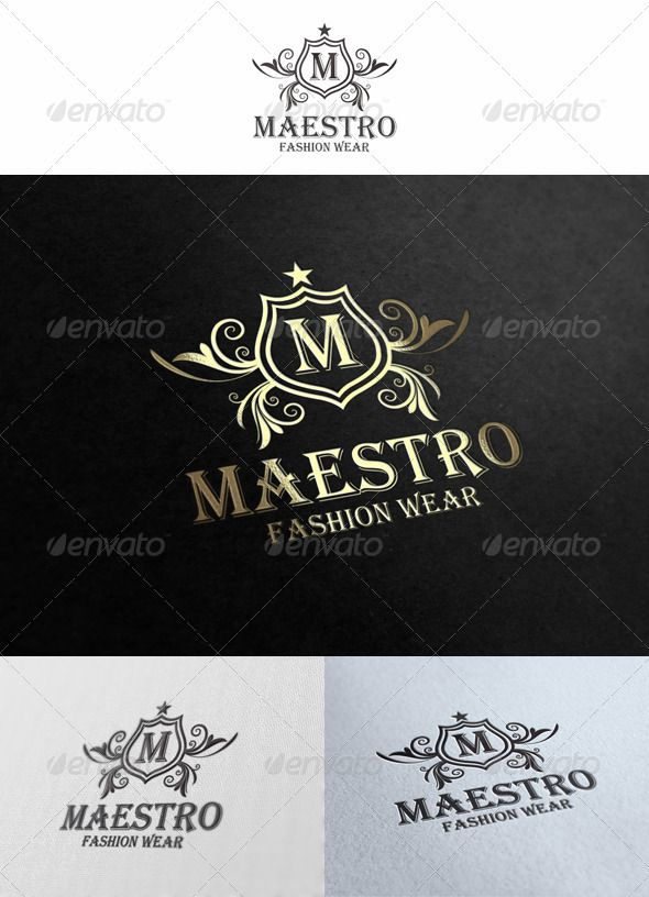 Maestro Logo Template — Vector EPS #shield #crown • Download here → https://graphicriver.net/item/maestro-logo-template/1563673?ref=pxcr