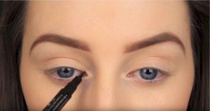 Een slimme truc voor liefhebbers van eyeliner De feest make-up look van dit moment straalt drama uit en je kunt geen drama hebb...