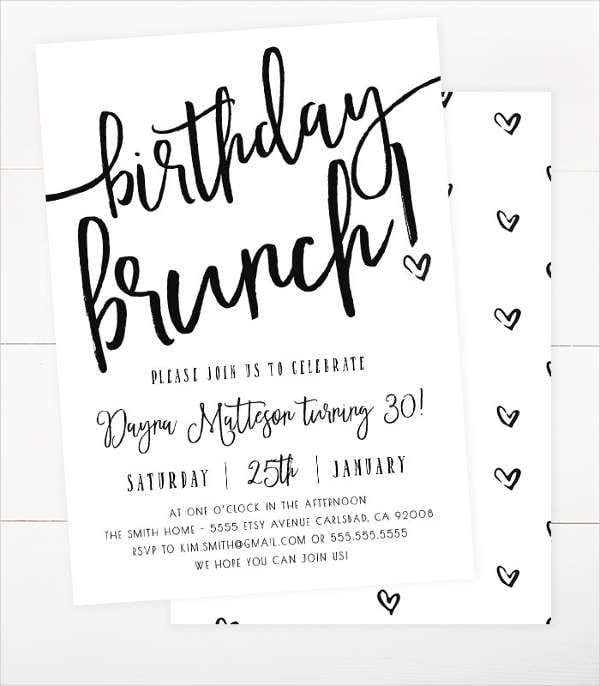 birthday brunch invitation birthday